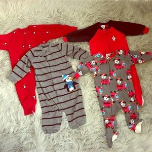 Other - Baby Boys Warm Onesie Pajama Bundle 9 to 12 months